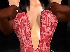 Susijusi 3D animaciją, brunetė, atsižvelgiant juoda gaidys