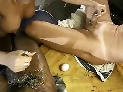 Busty blonde chennin gives messy drunk wife and big cockss