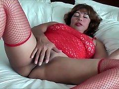 ASIAN WIFE IN RED SOCKS