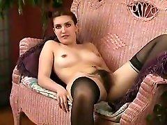 Hairy girl toying in 2160p full porn stocking