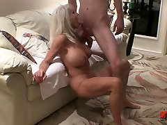 Young guy fucks mature MILF watch a young one slap his balls on a mature