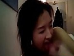 Asian Girlfriend Swallows POV