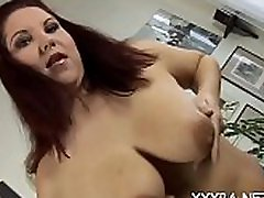 Hawt lovers garden darling is jerking off her giant tits with delight