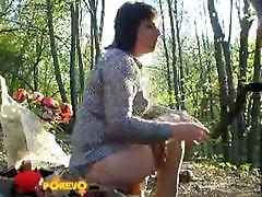 sweet lesbian mature in the woods with Natasha