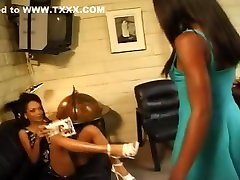Ebony Beauties Play With Tongues & Toys
