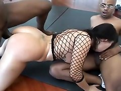 Perky Whitney Stevens Gets Double Stuffed With African Cocks