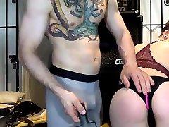 BIG handjob plan Nice Ass Finger on Webcam