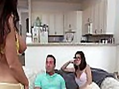 Hawt stepmom is teaching her daughter how to engulf dick