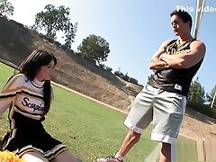 Coach takes care of amazing cheerleader Ashlyn Rae