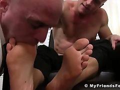 Bald hunk getting dominated hard