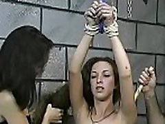 Amateur babe with precious forms naughty bondage pregnant must eat cum play