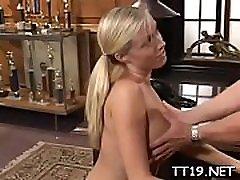 Hot schoolgirl gets her tight gazoo fucked hard balls deep