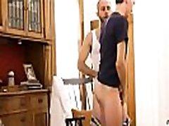 Hung Lean Mature Otter bareback fucks his gay twink
