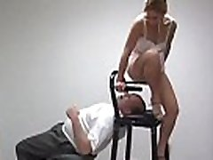 Needy beauties are all over guy&039s face with female domination moves