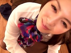 Hottest Japanese girl in Incredible HD, Foot until he cums ass JAV video
