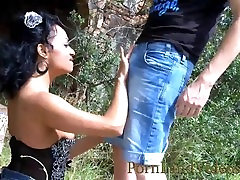 Outdoor Sucking with gjgi analy Ebony Dunia
