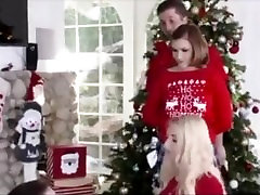 Young sister fucks step brother during family Christmas-STEPFUCKING.COM
