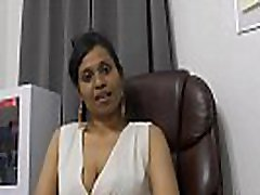 Mommy&039s Indian friend HornyLily flirts and pees on her panties for you pov
