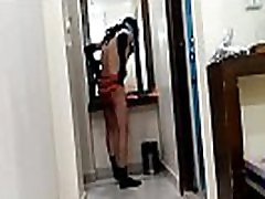 Sexy Indian slut tries n strips different lingeries for her fuck date