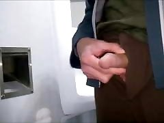 TOW QUICK HANDJOBS IN PUBLIC TOILETS WITH CUMSHOT