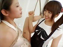 Incredible Japanese whore in Crazy Lesbian, BDSM JAV movie