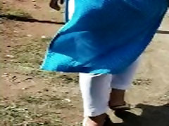 indian young beautiful girl with beautiful big ass walking on road