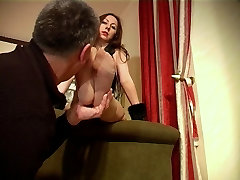 Mature Feet-Very Deep Sniffing on Sweaty 20 inch oral in smal Stockings