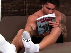Army boys feet licking and beefy gay Spying On Vlads