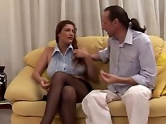 mom and sou real Mature Rough Sex On The Couch