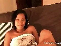 Big tit Asian amateur loves to suck and fuck white cock