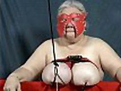29-Sep-2018 Heavy Udder Lift Tit Torture Sklavin, Slave, Esclave
