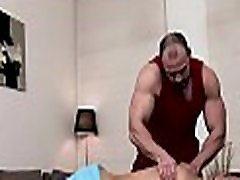 Sexy gay chap is being spooned wildly during sexy massage