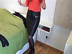 Pantyhose Testing - Amateur German Milf Testing two different outfits wearing black pantyhose - Part 1 - Watch Part 2 on SweetNylonFeet.com