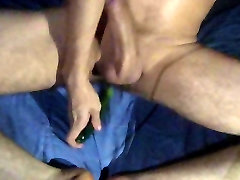 Cute twink masturbation with pickle