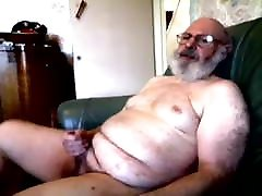 old silver daddy amrika xxx 12 hear galas jerking his cock