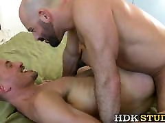 Deepthroating jock barebacked passionately after rimming