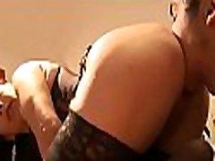 Mouth watering temptress takes pleasure facesitting bald man