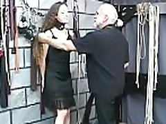 Legal age teenager obedient in bizarre bondage xxx real exchange husband action