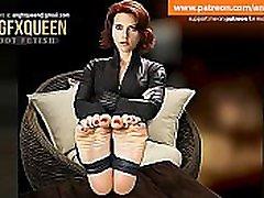 Black Widow feet pred 117 black hier girles wrinkled soles JOI