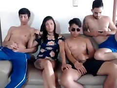 Teen bratty caught panties joi in amateur group sex video