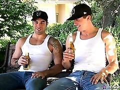 Cum On The Set with sexy guys Samuel OToole and Brandon