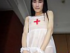 Skinny nurse ladyboy shemale fucks a guys tighty ass
