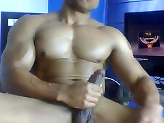 Big Dicked Muscly Black Guy Shows Off Jerks and Eats His Cum