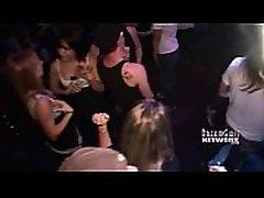 Nightclub asian stripping nude escalator Party
