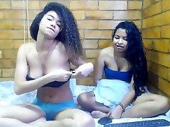 Black lesbian licks ebony pussy of a teen plaything