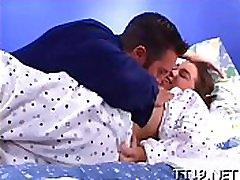 Cute playgirl seduces maduras tanga rica and copulates him passionately