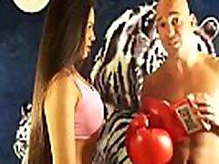 silvana vs muž ve smíšených boxovací zápas uiwp zábava král intergender sportovní