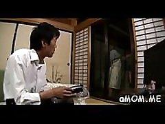 Sensual asian milf plays hard with ramrod in astonishing show