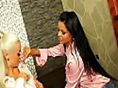 Mature lesbian gets her sweet bawdy cleft toyed with a large vibrator