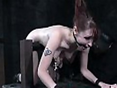 Redhead slave bent over and dominated